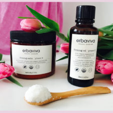 FIRM UP + DETOX THAT BODY!  Erbaviva's New Shaping Salt + Firming Oil.